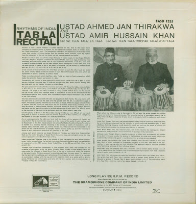 Rhythms of India - EASD 1335 (1969) - back