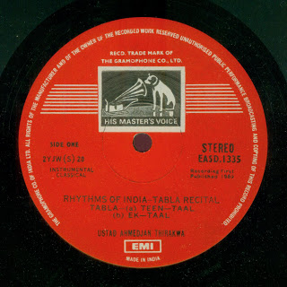 Rhythms of India - EASD 1335 (1969) - label 1