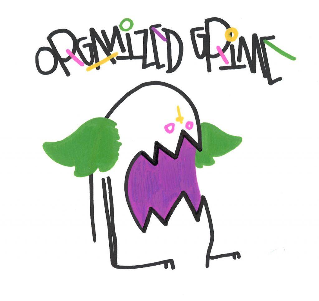 7 inch vinyl artwork for Organized Grime