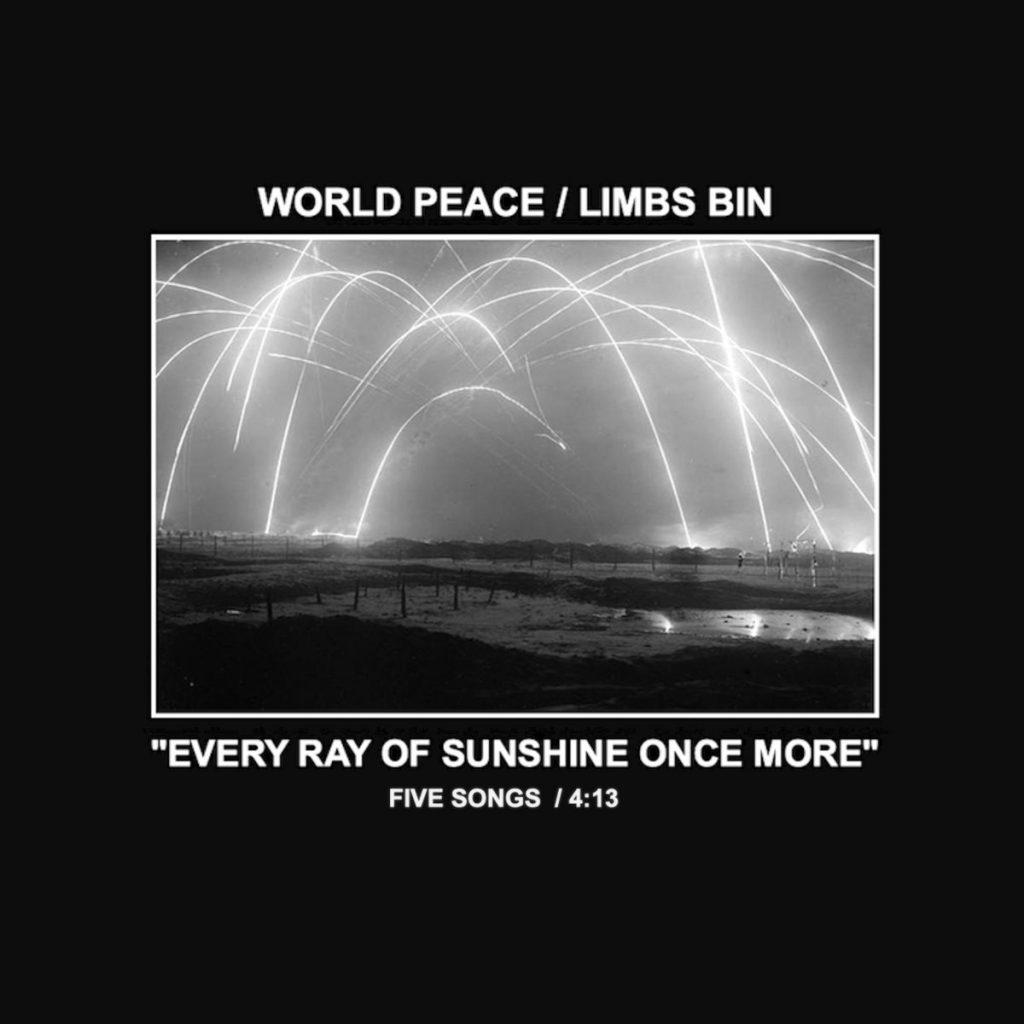 cassette single artwork for World Peace and Limbs Bin split