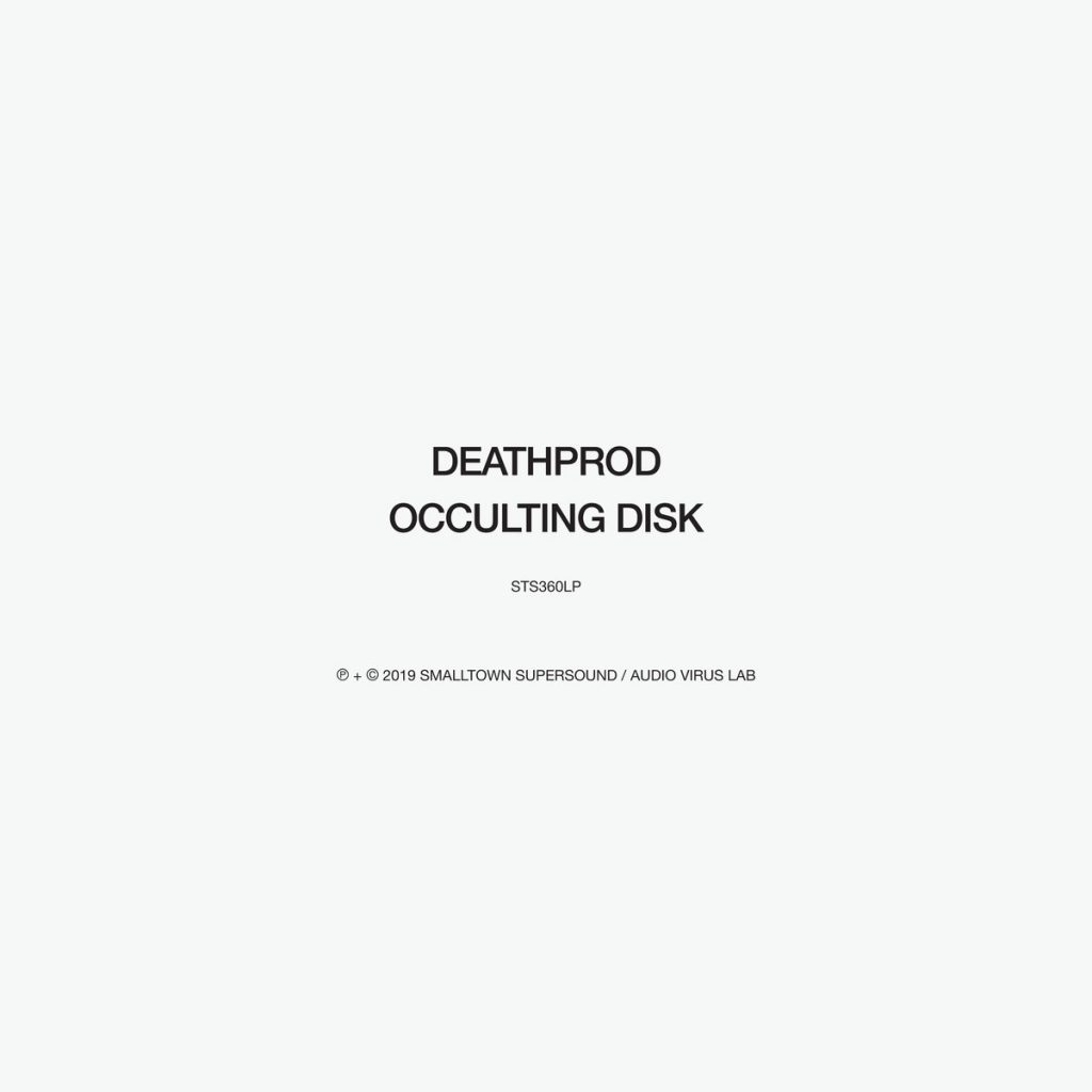 album artwork for Occulting Disk by Deathprod